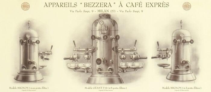 luigi bezzera espresso machine 1901